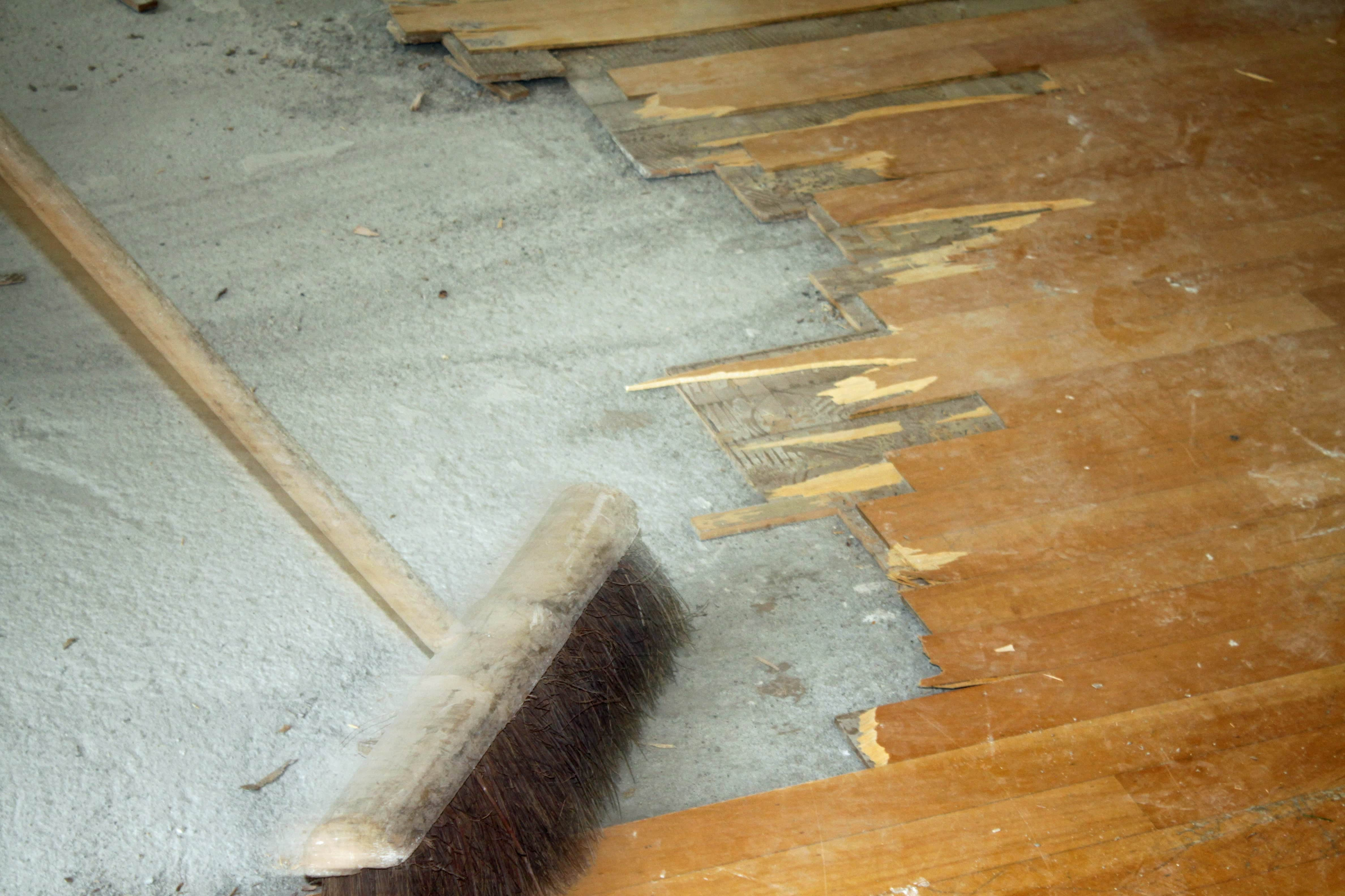 Machines voor een parketvloer verwijderen parketvloer
